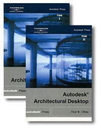 Книга Autodesk Architectural Desktop т.1, т.2. Обин (+CD)